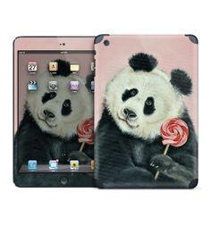 Panda with lollipop iPad skin for iPad Mini/Retina by MimoCadeaux, $50.00