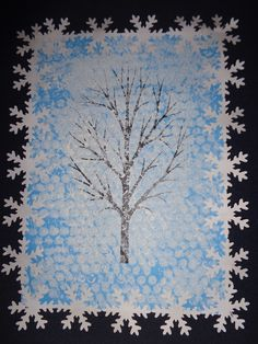 CHUMELENICE Winter Trees, Winter Art, Winter Crafts For Kids, Art For Kids, Activities For 2 Year Olds, Winter Project, Art Plastique, Trees To Plant, Art Lessons