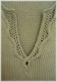 Nice neckline detail.....Ravelry: Margaux pattern by Norah Gaughan