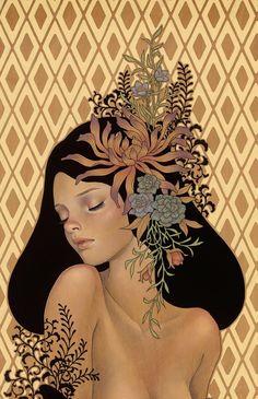 Audrey Kawasaki. Motifs floraux.