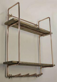 Alles in unserem Shop und auf unserer Website können auf die Größe und Stil dieser Suiten Ihre private oder geschäftlichen besten... Nehmen Sie einfach Kontakt für ein kostenloses unverbindliches Angebot.  Tiefe 25cm x Breite 69 cm x Höhe 80 cm (Tiefe ist ca. Abstand von der Wand zur Vorderseite des Kupfer-Frame) (Höhe ist Abstand von oben nach unten von Kupfer-Frame)  Eine Wand-Regal aus Kupferrohr und viktorianischen Fußbodenplatten zurückgefordert. Diese industriellen/urban, Vintage-...