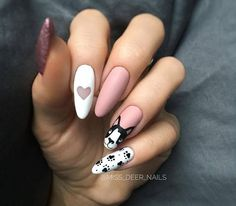 99 Adorable Pointed Nail Art Ideas That Inspiring You Creative Nail Designs for Short Nails to Create Unique Styles Deer Nails, Aycrlic Nails, Prom Nails, Gel Manicure, Love Nails, Pretty Nails, Hair And Nails, Dog Nail Art, Sparkle Nails
