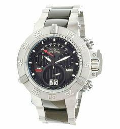Invicta 0964 Men's Subaqua NOMA Stainless Steel and Tungsten Black Dial Chronograph Watch Invicta. $390.00