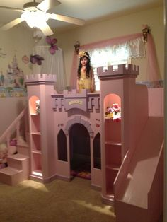 NEW CUSTOM PRINCESS BROOKE'S CASTLE LOFT BED   #CAROLINADREAMSCUSTOMDESIGNS