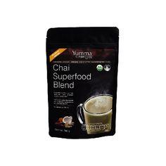 Chai Superfood Blend - Verde Orgánico  Especialmente formulado para mejorar la digestión y activar tu sistema siológico del placer. Sus nutrimentos biodisponibles ayudan a estabilizar tus niveles de energía y controlar los antojos. No contiene lácteos ni cafeína.