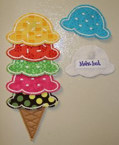 Ice Cream Cone chore chart. (Ready to take chores online? Try FamZoo.com)