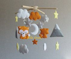 Fox Baby Mobile Tribal Nursery Mobile Mountain & by SweetMobiles