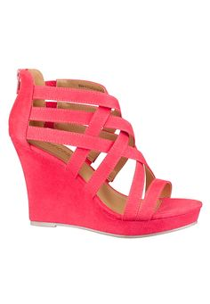Fynley Cross Strap Wedge  available at #Maurices