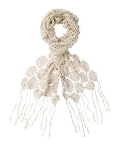 crochet lace scarf (diy inspiration))