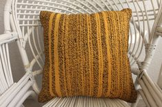 """Excited to share the latest addition to my #etsy shop: Yellow and Black kilim pillow Natural Kilim Pillow Decorative Kilim Pillow cushion cover 18""""x18"""" kilim pillow cover throw pillow 812 https://etsy.me/2JE9tsG #housewares #pillow #kilimpillow #kilimpillow18x18 #turki"""