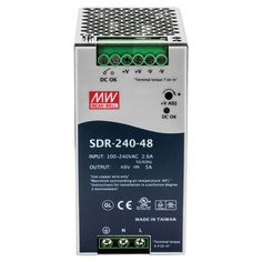 TRENDnet 240 W Single Output IndustrialDIN-Rail Power Supply #TI-S24048