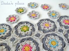 Dada's place: #Crochet mosaic - beautiful!