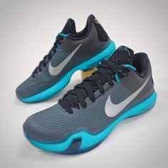 c2b90211435 Details about NEW NIKE AIR KOBE BRYANT X 10 A.D. EMERALD CITY BLUE GREEN  BASKETBALL SHOES 11