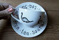Bron-tea-saurus Teacup & Saucer