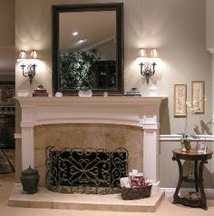 how to make a faux fireplace | Related article for How To Build A New Fireplace Surround And Mantel ...