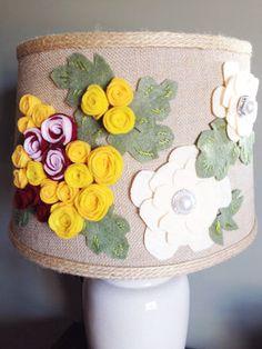 DIY Felted Flower Lampshade