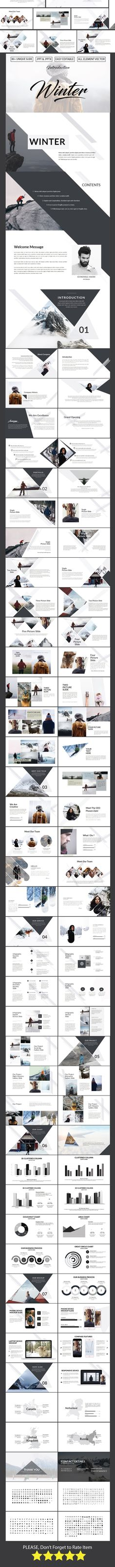 30 best PowerPoint Design images on Pinterest Editorial design - winter powerpoint template