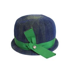 1960's Schiaparelli Blue & Green Hat