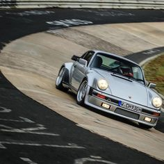 Porsche 911 Turbo (930) having fun on the Nordschleife. (Low-res. image, bummer.)