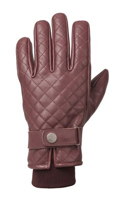 RIDE&SONS Bullit Insulated Leather Glove Oxblood