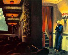Edward Hopper New York Movie painting for sale - Edward Hopper New York Movie is handmade art reproduction; You can shop Edward Hopper New York Movie painting on canvas or frame. New York Trip, New York City, American Realism, American Artists, American Life, American Modern, Edward Hopper Paintings, New York Movie, Art History