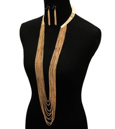 Trendy Glam Sexy Gold Egyptian Open Collar Choker Tassel Statement Necklace #Choker