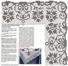 Filet Crochet, Crochet Borders, Crochet Art, Thread Crochet, Crochet Patterns, Cross Stitch, Crafty, Sewing, Knitting