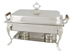 8 Quart, Full Size Rectangular Chafer With Dome Cover (408-1) This chafer is a part of the Crown Collection by Winco. Ideal for hotels, restaurants, catering, bars, and more! - Capacity: 8 Quarts. - S