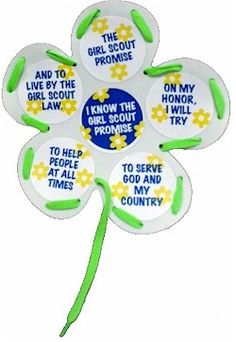 Daisy Promise Flower Craft from MakingFriends.com. Learn the Girl Scout Promise with this Daisy craft.