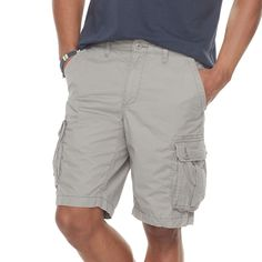 Men's SONOMA Goods for Life™ Modern-Fit Lightweight Twill Cargo Shorts, Med Grey