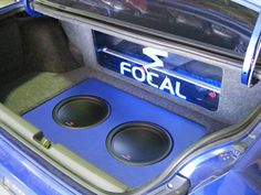 Custom car audio install with the finest French components from Focal.