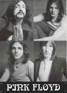 """An awesome Pink Floyd poster with portraits of each band member - Roger Waters, David Gilmour, Rick Wright, and Nick Mason! Ships fast. 24x33 inches. Take some """"Time"""" to check out the rest of our amaz"""