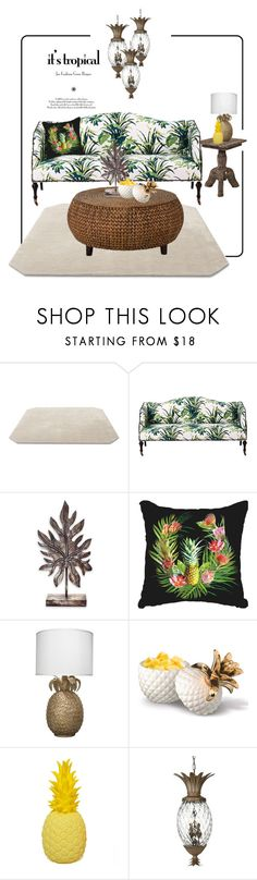 """Pineapples..."" by farnazarsalann ❤ liked on Polyvore featuring interior, interiors, interior design, home, home decor, interior decorating, &Tradition, NOVICA, Jamie Young and Grasslands Road"