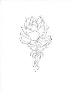 pictures of lotus tattoo drawings | lotus on tribal lotus tattoos