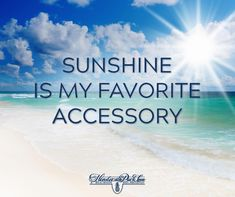 Is sunshine your favorite accessory?