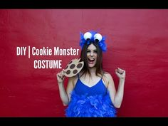 Fancy Made – You gotta admit Cookie Monster is probably one of the … - Halloween Ideas 2018 Blue Costumes, Group Costumes, Diy Costumes, Costumes For Women, Halloween Costumes, Halloween Ideas, Cookie Monster Halloween Costume, Childhood Characters, Costumes
