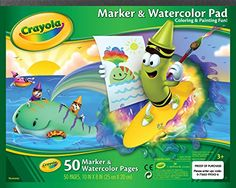 Crayola 10 x 8 Inches Marker and Watercolor Pad, 50 Sheets (AN99-3403) Crayola http://www.amazon.com/dp/B003SBDYQ0/ref=cm_sw_r_pi_dp_nWylwb00A3XW7