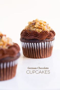 German Chocolate Cupcakes--love the two frostings! @Jaclyn Bell {Cooking Classy}