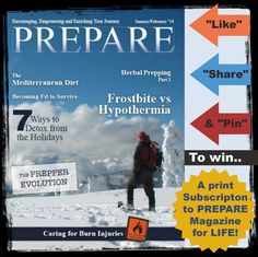 PREPARE Giveaway Contest - Enter to win a lifetime subscription the Print  issues of  PREPARE Magazine