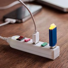 USB Power Strip  http://www.lovedesigncreate.com/dci-4-port-usb-power-strip-assorted-colors-30390/