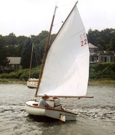 Catboat heading out