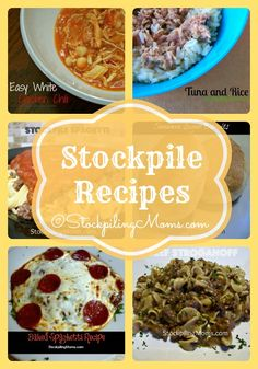 Stockpile Recipes that are great for busy nights! Quick and easy dinners from your pantry.