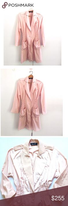 "Isabel Marant lightweight coat Isabel Marant pastel pink lightweight coat in size 40 France, size 8 in US ↪️pls see size conversion in photo. 100% cotton material. Has a small yellow mark see photo. Pit to pit stretched 23"", length 36"". Isabel Marant Jackets & Coats"