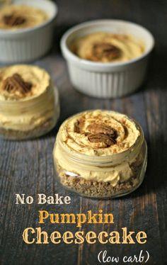 No Bake Low Carb Pumpkin Cheesecake - Dan 330 http://livedan330.com/2015/10/12/no-bake-low-carb-pumpkin-cheesecake/