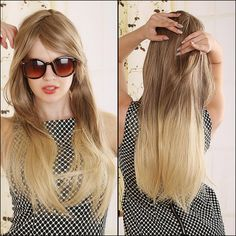 70cm Blonde Ombre Wig Long Straight Cheap Women Synthetic Wig Fashion Natural Hair Women's Brown Wigs For White Women-in Synthetic Wigs from Health & Beauty on Aliexpress.com | Alibaba Group