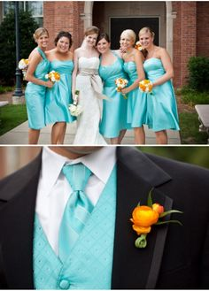 turquoise and orange wedding color | turquoise-and-orange-wedding-colors