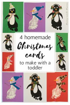 Mummy and the Mexicans: 4 Homemade Christmas Cards to make with a Toddler