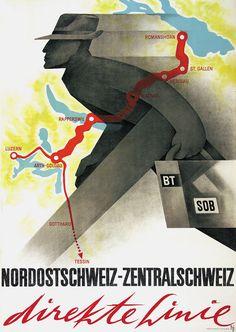Alex W. Diggelmann, Nordostschweiz - Zentralschweiz direkte Linie, 1945