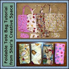 Sher's Creative Space: Tutorial - Foldable Tote Bag with Matching Sleeve - FREE PATTERN