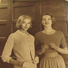 Vintage 1950s Sweater Patterns Knitting Spinnerin 140 by Revvie1, $8.00